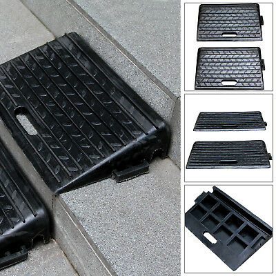 2X Rubber Ramps Kerb Threshold Cars Caravans Wheelchair Mobility Access Pass NEW