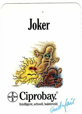 "RARE MINT ""Ciprobay Advert"" JOKER Playing Card #713"