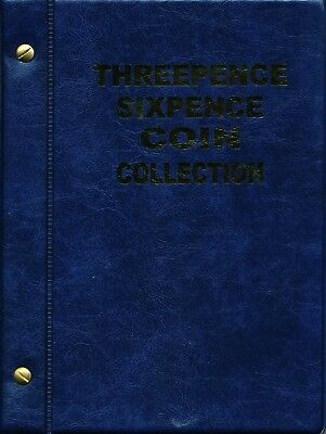 VST Australian Threepence and Sixpence Coin Album 1911 to 1964 - Blue Cover