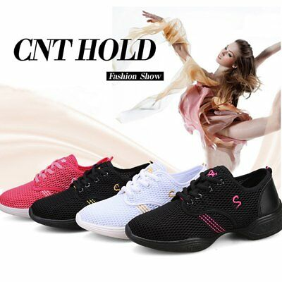 Female Dance Sneakers Soft Mesh Shoes Woman Jazz Ballroom Practicing Shoes W0
