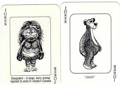 "2 Similar but Different ""Cartoon Animals"" JOKER Playing Cards #722"