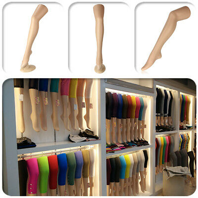 30'' Plastic Standing Female Leg Mold Long Stocking Mannequin Display Standing