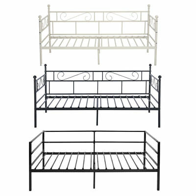 3ft Single Metal DayBed Solid Guest Bed With Trundle or Without Trundle Frame