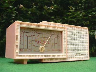 Absolutely Sensational 1950's Retro Vintage STC BANTAM Pink & White Valve Radio