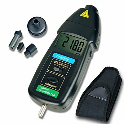 Tachometer RISEPRO 2in1 Contact and Non contact Digital Laser Tachometer RPM ...