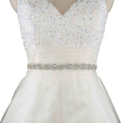 Luxury Rhinestone Wedding Dress Belt Accessories Bride Bridesmaid Applique Sash