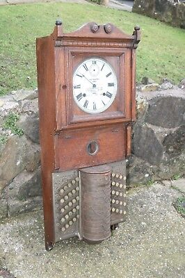 Rare Antique Electric SIMPLEX Time Recorder Clocking in Clock - 50 Employees