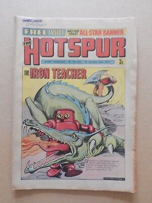 The Hotspur comic #731 - 20th Oct 1973 with free gift All Star Banner