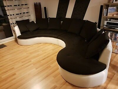 sofa couch rundecke ferro kuschelecke lounge sofa mit. Black Bedroom Furniture Sets. Home Design Ideas