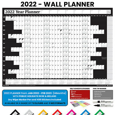 2019 Year Wall Planner ~ Yearly Annual Calendar Chart A2 Size Rolled Large #025