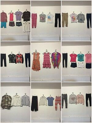 Huge Girls Age 9/10 Clothes Bundle 39 Items Next Zara River Island Disney M&S
