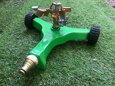 NEW ZORRO Impulse Impact Sprinkler on Heavy Duty Metal Base on Wheels 19mm