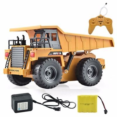 HuiNa 1540 Six Channel 6CH 1/12 40HMZ RC Metal Dump Truck Remote Control RTR NEW