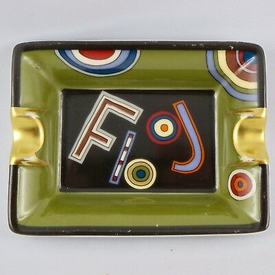"Mini Cendrier Vide-Poche HERMÈS PARIS Porcelaine ""Flooj"" France tray/ashtray..."