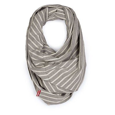 Skip Hop Nursing Scarf: Striped Grey I Mesh Privacy Window I Scarf (ST30)