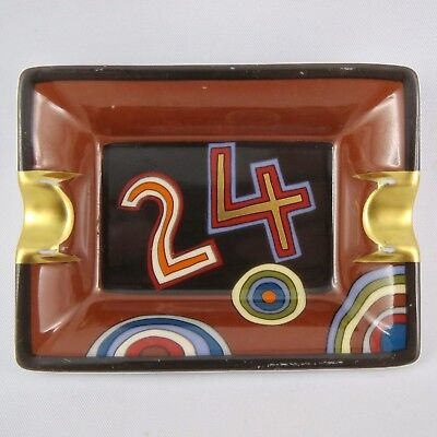 "Mini Cendrier Vide-Poche HERMÈS PARIS Porcelaine Modèle ""24"" France tray/ashtray"