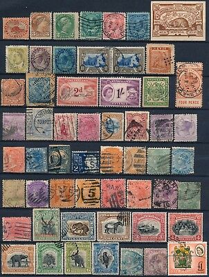 British Colonies, Unchecked Lot Of Diff. Stamps & Revenues, See..  #t536