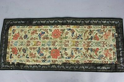 18th/19th C. Chinese Embroidery: Flowers