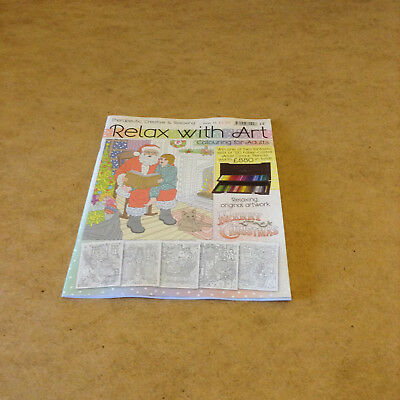 Relax With Art Issue 35 Christmas Artwork To Colour Colouring Book For Adults