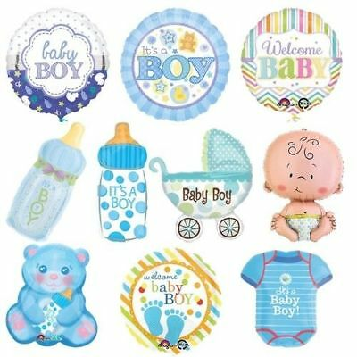 Folieballon Babyparty Junge Its a Boy Blau Babyshower Ballon Helium Baby 99510