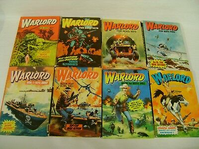14 Warlord Annuals For 1977-1989 & 1991 (S12/12)