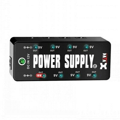 XVIVE V19 Micro Power Regulated Power Supply for FX Pedals includes all leads