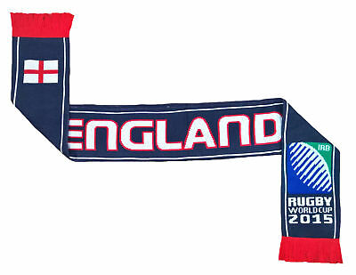Official ENGLAND Rugby Supporters scarf RFU Union scarves Knitted Beanie Hat