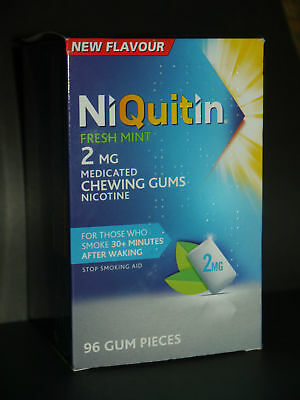 NIQUITIN Fresh Mint 2mg / 4mg  Chewing Gum X 96 Pieces