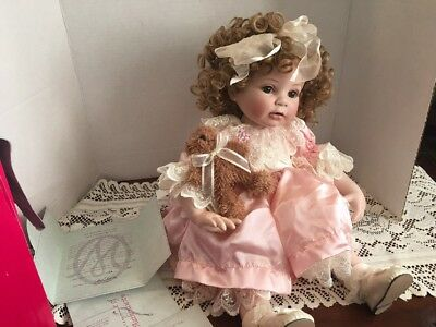 "Marie Osmond ""FRIENDS""-HTF Doll TODDLER SEATED 13"" Porcelain1072/1500 L.E."
