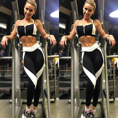 Women Sexy Waist Yoga Fitness Leggings Running Gym Stretch Sports Pants Trousers