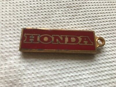 Original Vintage 1960's 1970's Honda UK Ltd Metal/Enamel Motorcycle Key Ring