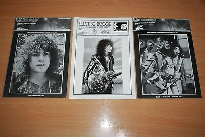 RARE 3 x ISSUES OF MARC BOLAN FAN CLUB 'ELECTRIC BOOGIE' MAGAZINE 2001/2002
