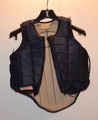 Girls equestrian horse/pony riding Racesafe Body Armour Protector navy Size XL