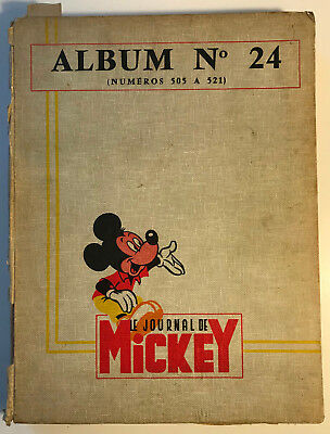 ALBUM LE JOURNAL DE MICKEY n°24 ¤ avec n°506 à 521 ¤ 1962 DISNEY