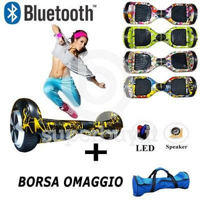 "Hoverboard 6.5"" Bluetooth Speaker Scooter Balance Luci LED Overboard Monopattino"