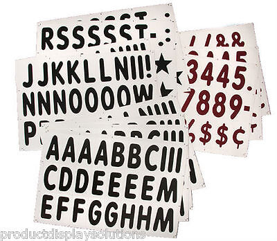 "289-  5"" Replacement Letter & Numbers for Roadside & XL Message Board Signs"
