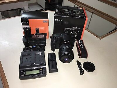 Sony Alpha a77 II 24.3MP Digital SLR Camera Used - Zeiss 16-80 f3.5-4.5 - Extras