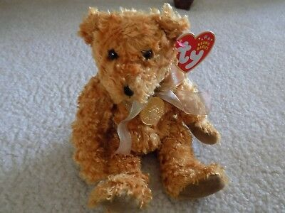 "Ty Beanie Babies ""Teddy""  2002 Teddy Roosevelt Bear with coin 1902-2002"