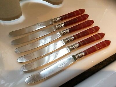 Beautiful Antique William Humphrey Silver Plated Butter/tea Knives