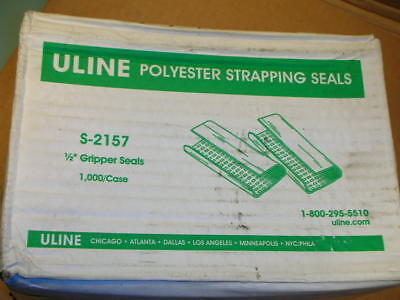 """ULINE S-2157 1/2"""" Gripper Serrated Seals for 1/2"""" Polyester Strapping Case 1000"""