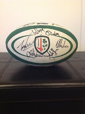 London Irish Signed Rugby Ball  See Players Sign The Ball