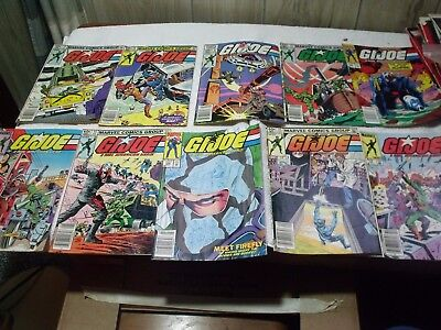 Lot # 9       Lot of 10 Vintage Comic Books, GI Joe,  see pictures for titles