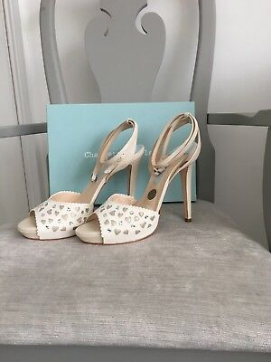 Charlotte Mills Abby Wedding Shoes, Size 8 (more Suited To A Size 7) Peep Toe