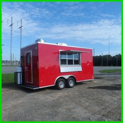 8.5 x 16 18 ft inside enclosed cargo vending concession trailer 2 3 x 6 window