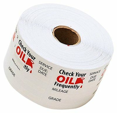 Oil Change Service Reminder Stickers 500 1 Roll Of Labels Labeling Tagging Label