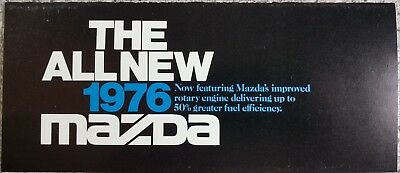 Vintage 1976 Mazda Improved Rotary Engine Sales Brochure Mailer Cosmo RX-4 RX-3