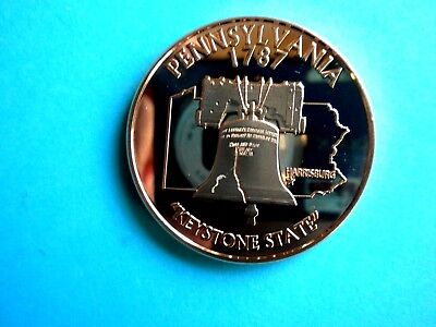 PENNSYLVANIA STATE & LIBERTY BELL 1OZ  COPPER Rounds