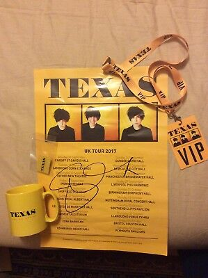 Texas Vip Memorabilia From The Jump On Board Tour 2017 and Signed Lithograph