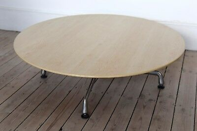 Eames Round Low Coffee Table with Aluminium Base