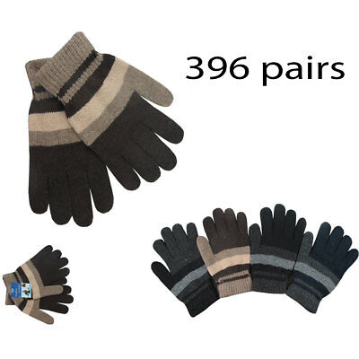 396pairs Men Women Warm Winter Gloves Knit Knitted Wholesale Lots Xmas Christmas